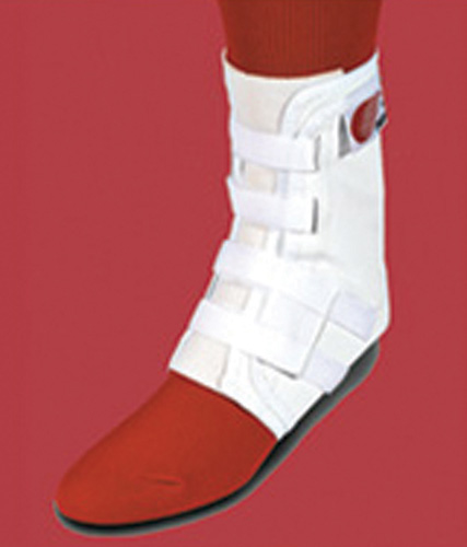 Easy Lok Ankle Brace XL White Woven Tongue w/ Stabilizers