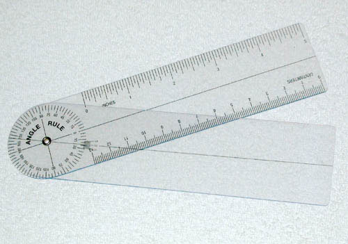 Plastic Angle Rule Goniometer 7 360 Degrees