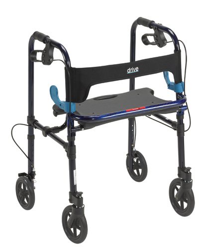 Clever Lite Folding Walker w/Seat and Brakes
