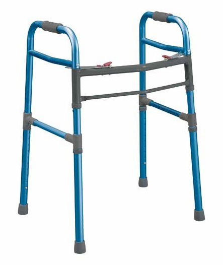 Universal Folding Walker 2 Button (Adult/Junior) Blue