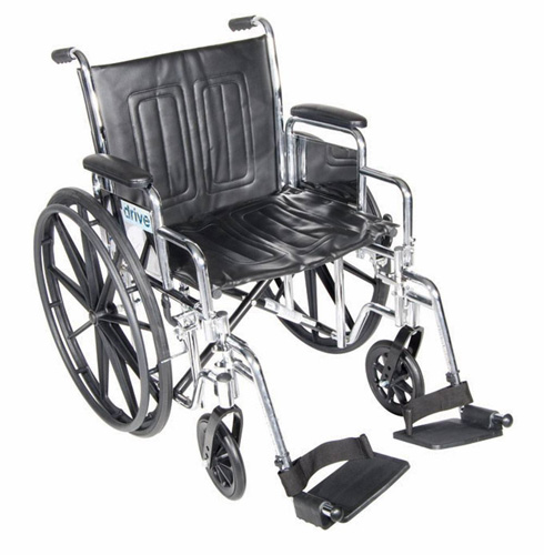 Wheelchair Std Rem Full Arms 20 Elevating Leg Rests