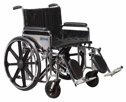 Bariatric Wheelchair Rem Full Arms 22 Wide w/SA Footrests