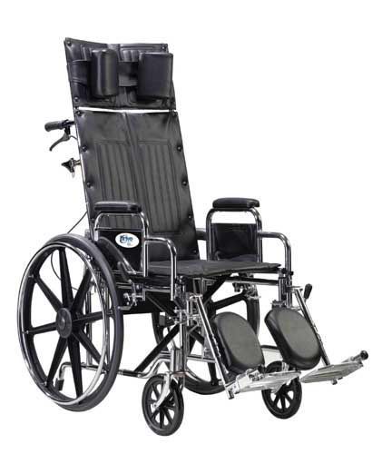 Wheelchair Full Reclining 14 W/Removable Desk Arms