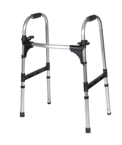 Adult Dlx Push Palm Release Ultra Ltwt Folding Walker