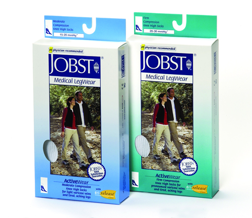Jobst ActiveWear 15-20 Knee-Hi Socks White Small
