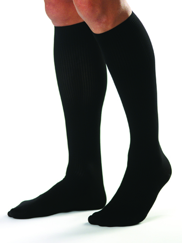 Jobst For Men 15-20 Knee-Hi Black Large (pair)