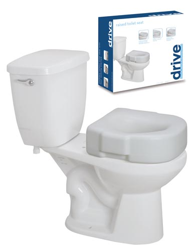 Economy Raised Toilet Seat Retail Pack Each