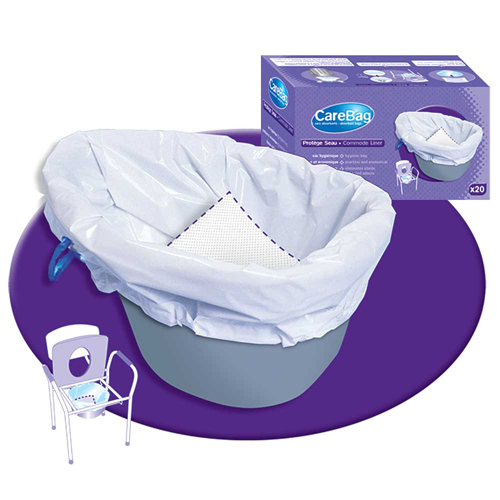 Carebag Commode Pail Liners by Cleanis - Box/20