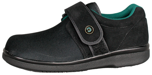 Gentle Step Diabetic Shoe W-13½ M-12 Wide Black pr