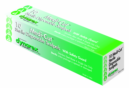 Scalpel #15 Disposable Generic Bx/10 w/Safety Guard