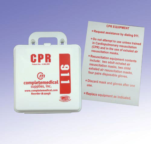 First Aid Kit- CPR Restaurant w/Poster