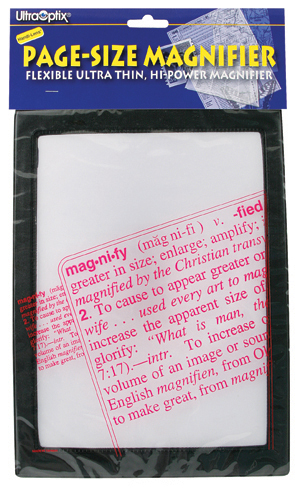 Magnifier Full Page Reading Fresnel 7 x10 w/ Border
