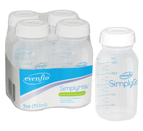 Bottles Milk Storage Pack/4 for Comfort Select Breast Pump