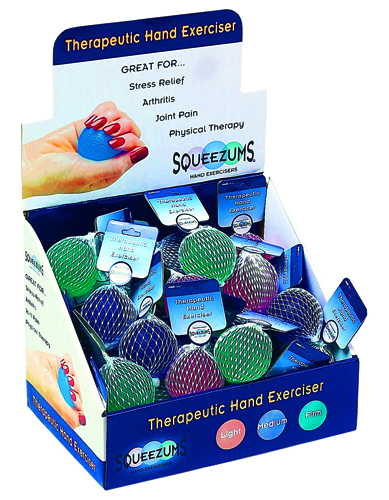 Squeezums Therapeutic Hand Exerciser Display(36 pcs)