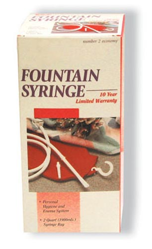 Fountain Syringe - Red Rubber