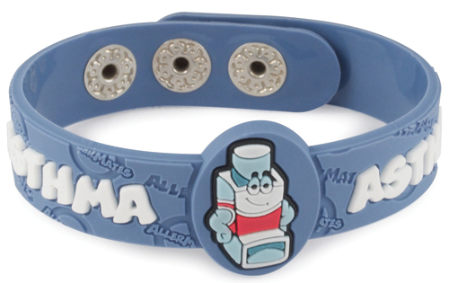 AllerMates Wrist Band Puffer Asthma Alert