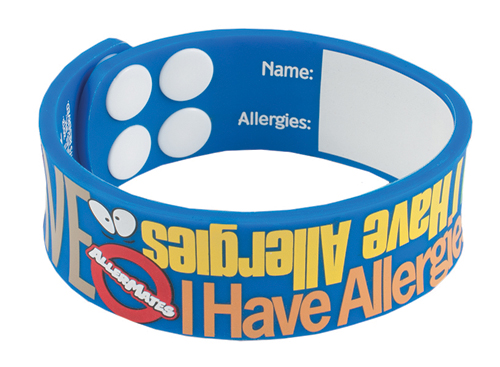 AllerMates Wrist Band I Have Allergies