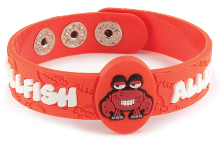 AllerMates Wrist Band Crabby Shellfish Allergy