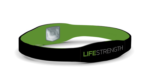 LifeStrength Armband Large Black / Green 8-1/8