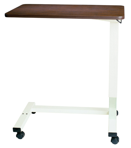 Overbed Table Automatic w/ XL Top &Opal Powder Coat U Base