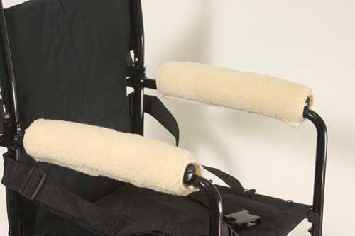 Wheelchair Armrests Fleece Pair for Desk Arms 10 to 11