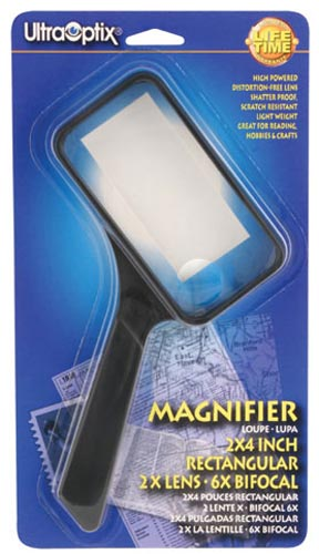 Magnifying Glass 2 x 4 Rectangular