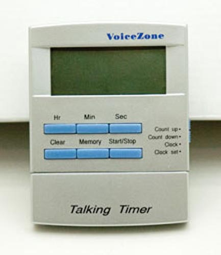 Talking Timer Clock w/Alarm