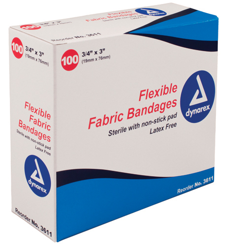 Flexible Fabric Adh Bandages Knuckle 1-1/2 x3 Bx/100