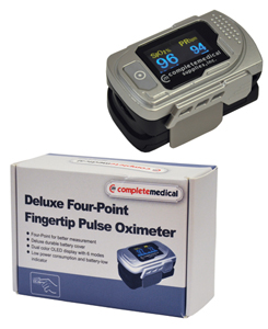 Deluxe Four-Point Finger Tip Pulse Oximeter