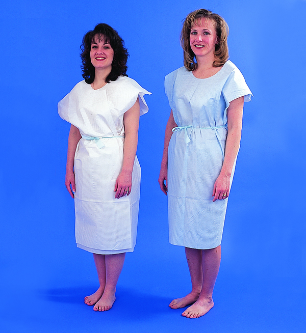 Paper Patient Exam Gowns- White Bx/50
