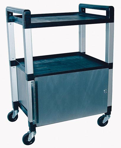Utility Poly Cart w/Cabinet