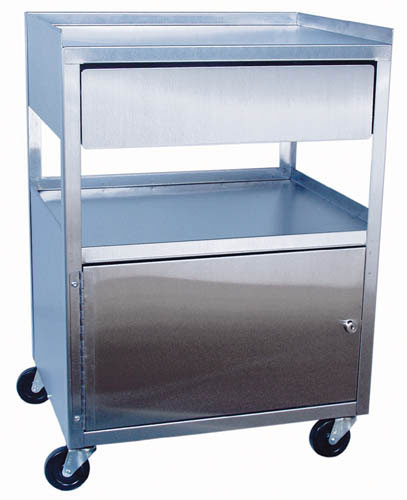 Stainless Steel Cabinet Cart W/ Drawer