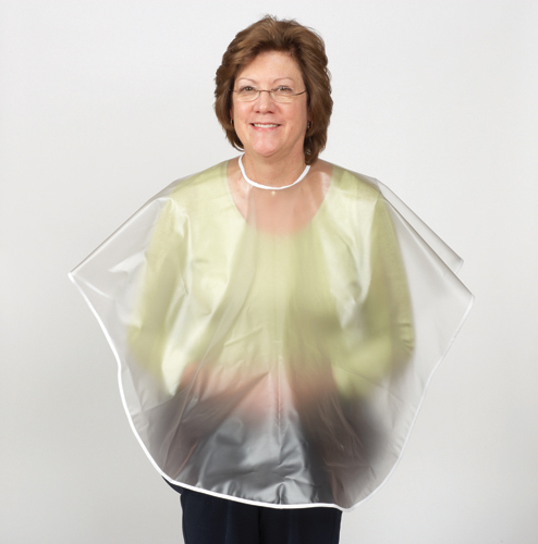 Shampoo Cape w/Hook & Loop Closure Reversible