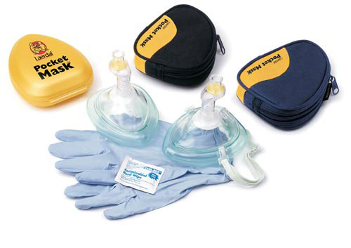 Laerdal Pocket Mask W/ One Way Valve & Filter (w/o O2 Inlet)