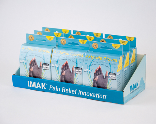 IMAK Arthritis Gloves-Display (3 Sm 3 Med 3 Lg)