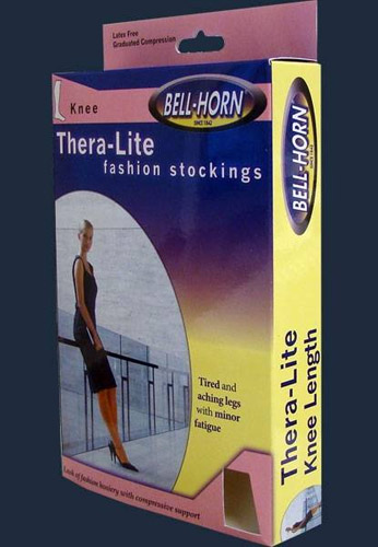 TheraLite C/T Knee Stockings Large 20 - 30 mmHg Taupe