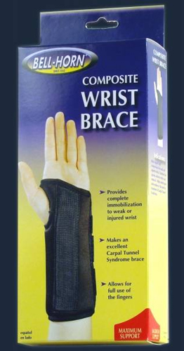 Composite Wrist Brace Right Large Wrist Circum: 7½ - 8½
