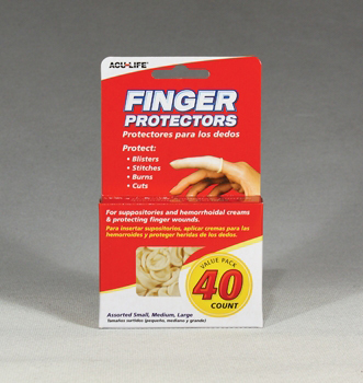 Finger (Protectors) Cots 40 Pk Assorted