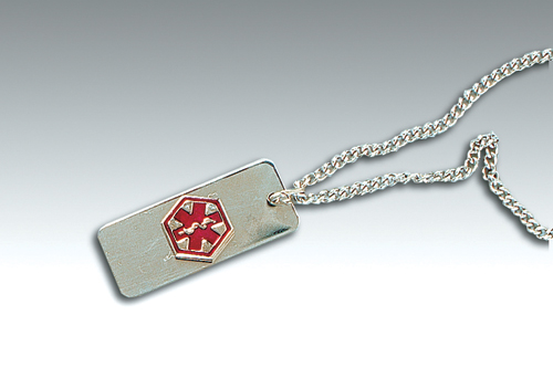 Diabetic ID Necklace-Carded