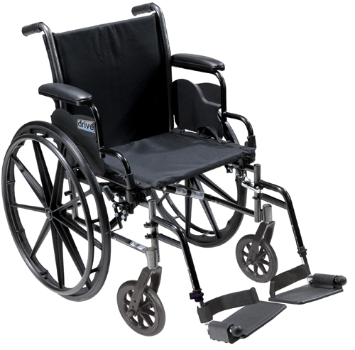 K3 Wheelchair Ltwt 20 wDDA & S/A Footrests