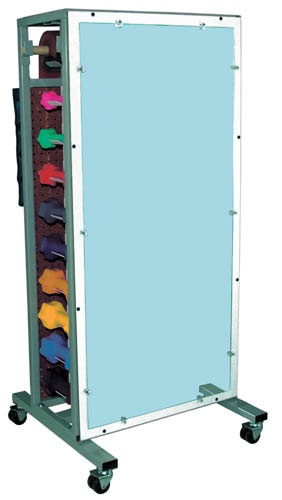 Dlx. Combo. Weight & Dumbell Storage Rack W/ Mirror