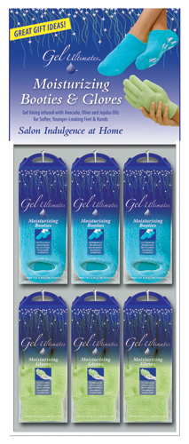 Gel Ultimates Moisturizing Booties & Gloves Display