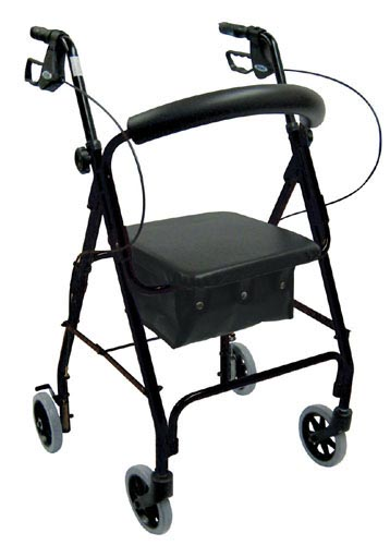 Rollator Alum w/Padded Seat & Loop Lock 8 Casters Red