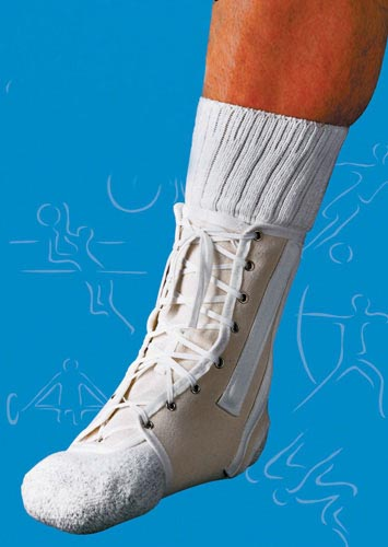 Ankle Splint Lace-Up Canvas Small Sportaid