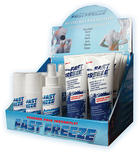 FastFreeze ProStyle® Therapy Gel Countertop Display