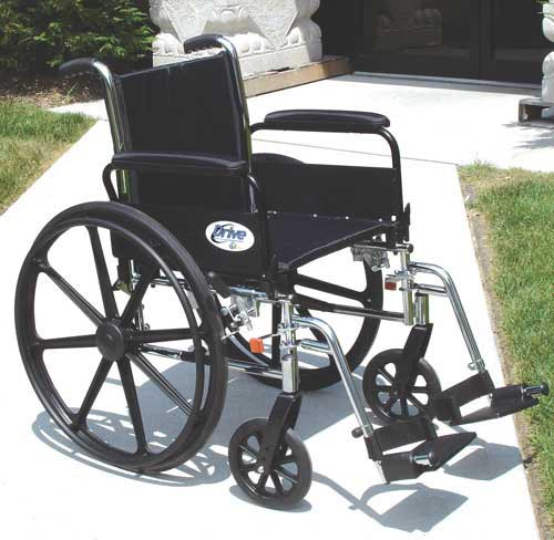K3 Wheelchair Ltwt 16 w/ADDA & ELR's